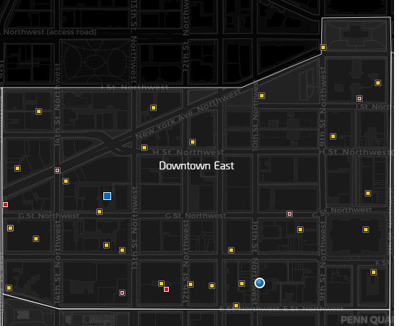 Downtown East Map in The Division 2 - The Division 2 Guide