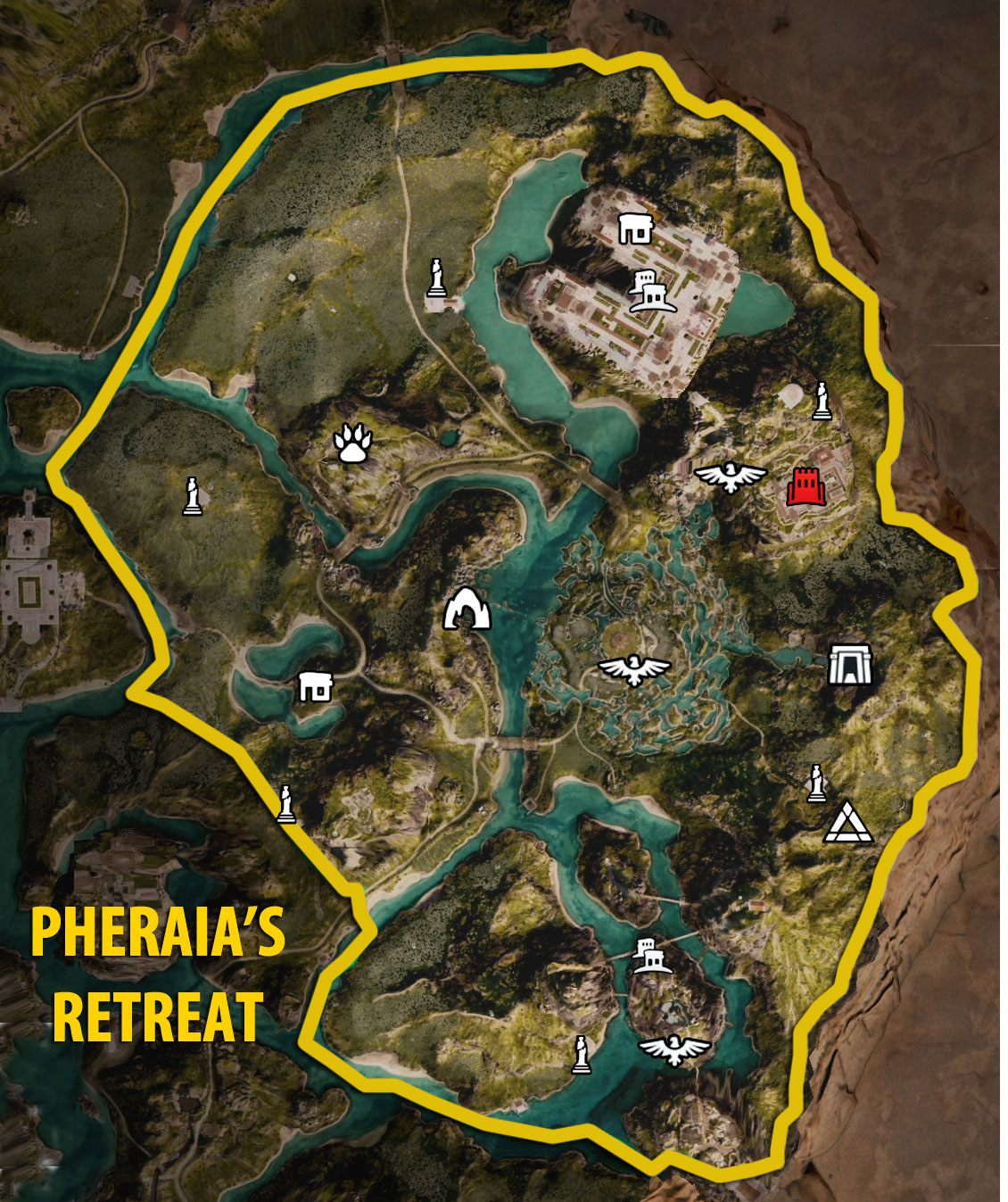 Pheraia's Retreat - Fate of Atlantis DLC Map - Assassin's Creed Odyssey
