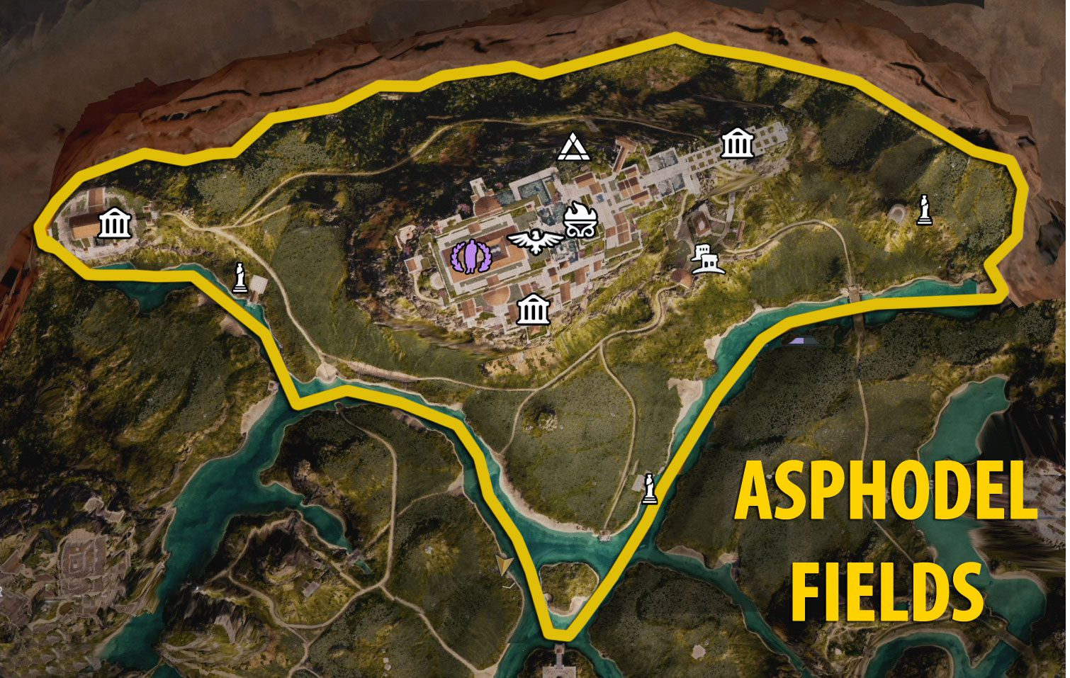Asphodel Fields - Fate of Atlantis DLC Map - Assassin's Creed Odyssey