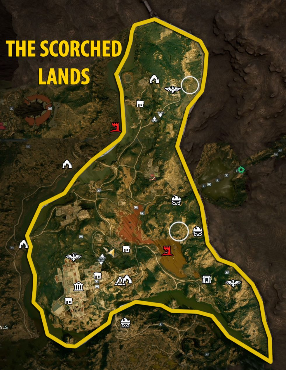 The Scorched Lands | Torment of Hades maps and atlas