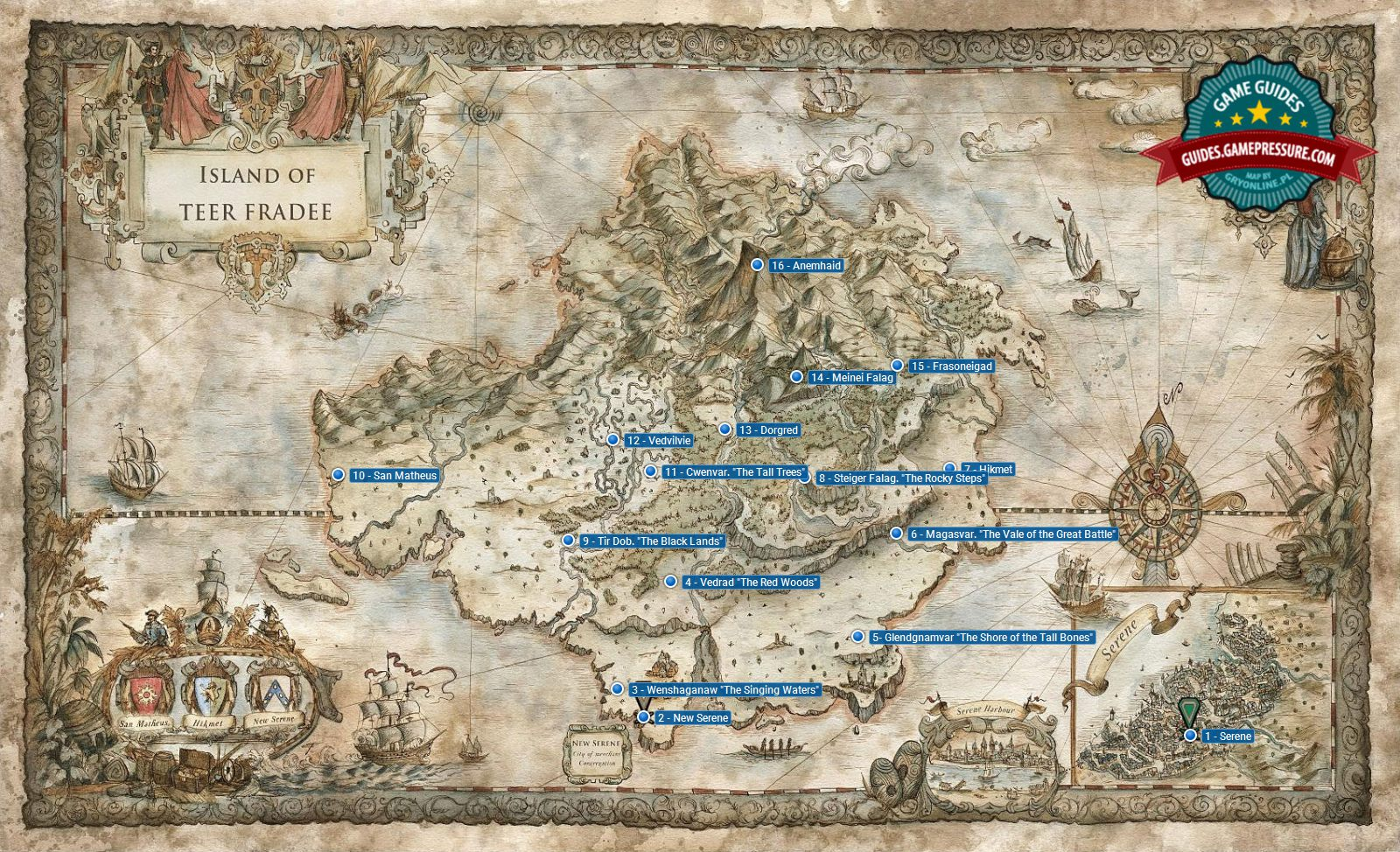 World Map of GreedFall - GreedFall Guide | gamepressure.com