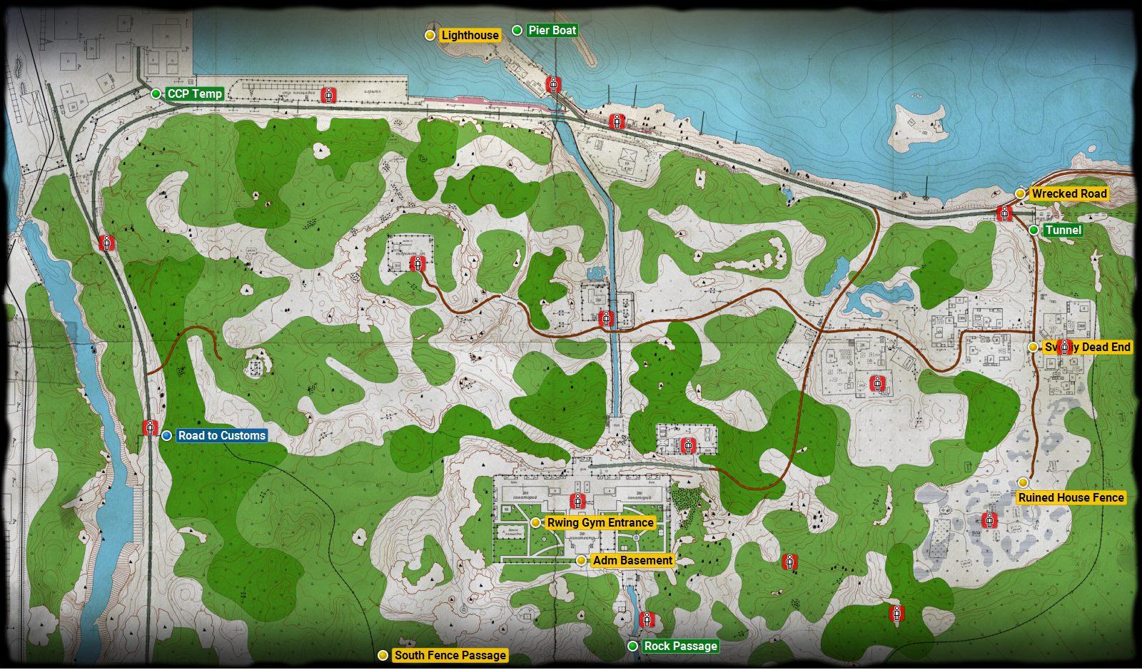 Shoreline Escape From Tarkov Maps Escape From Tarkov Guide Gamepressure Com