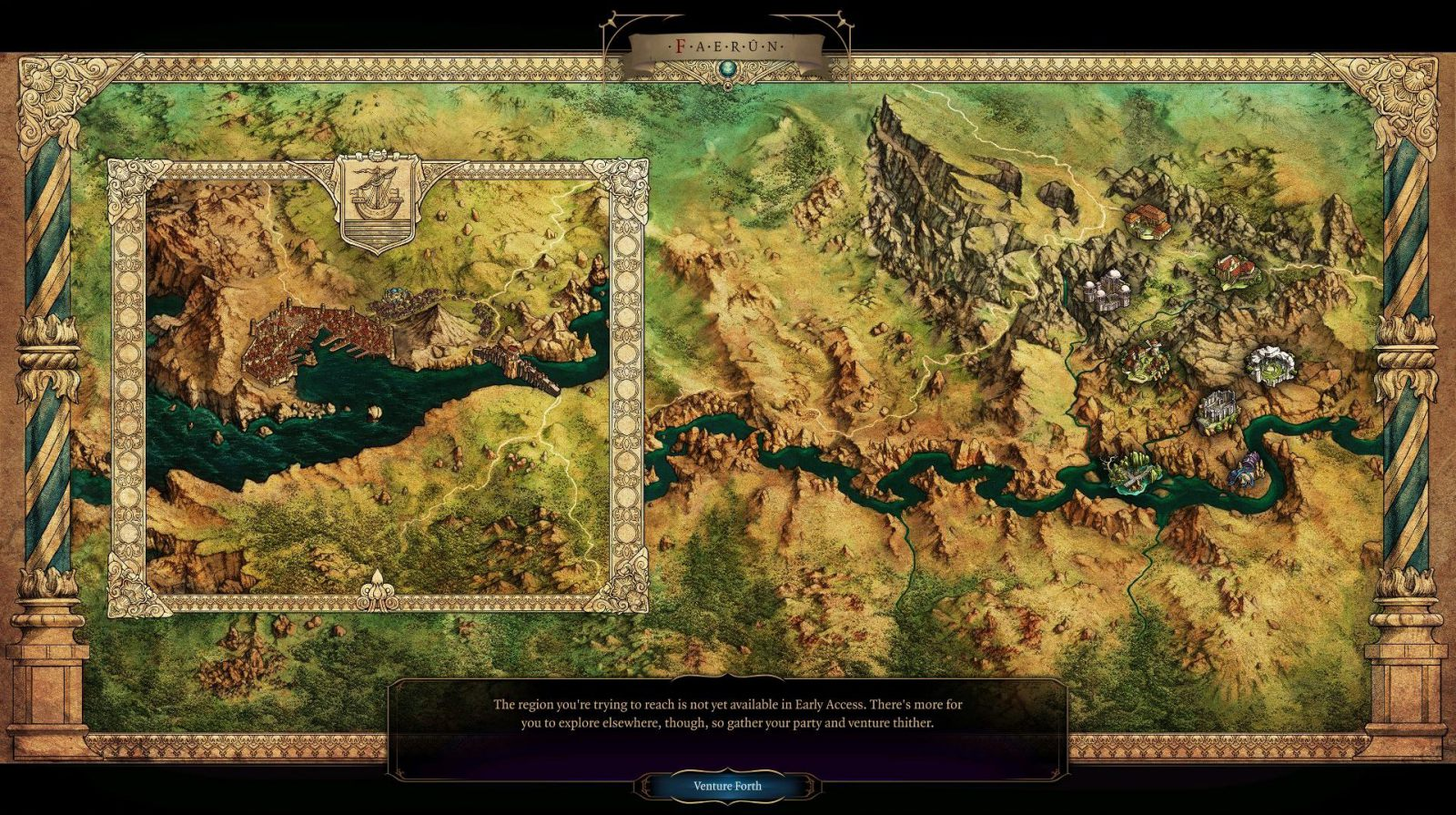Baldurs Gate 3 - World map