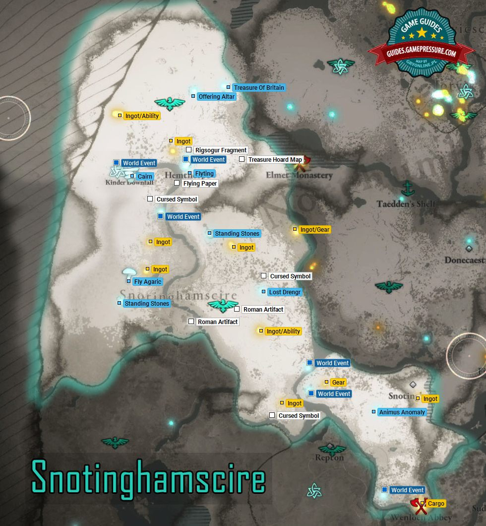 Assassin's Creed Valhalla - M14 Snotinghamscire - Secrets