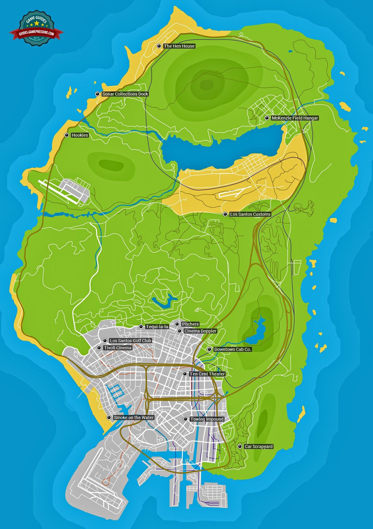 GTA V map - Properties