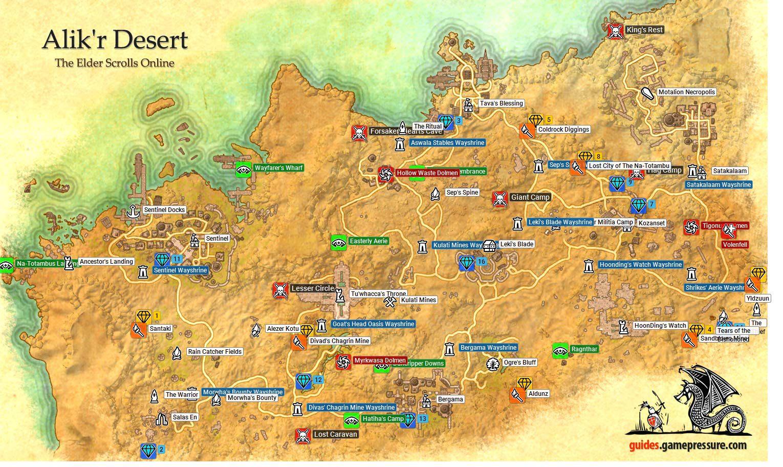 Alik 39 r Desert Daggerfall Covenant The Elder Scrolls Online Game Guide