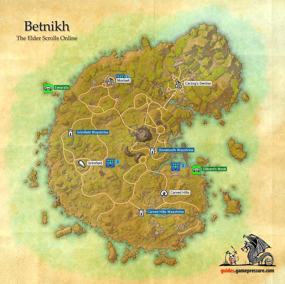 Elder Scrolls Online Map The Image Kid Has It