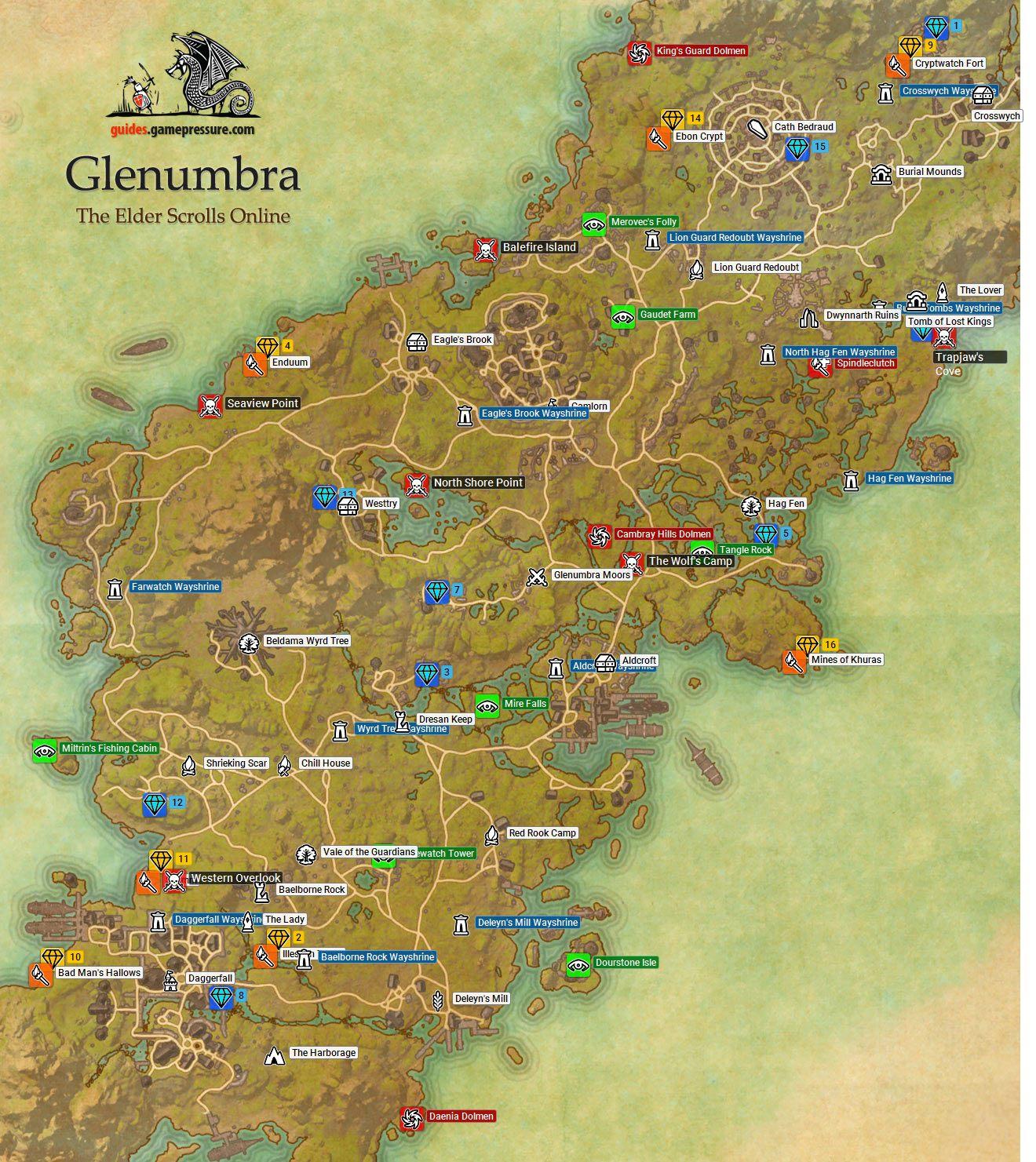Glenumbra Daggerfall Covenant The Elder Scrolls Online Game Guide gamep