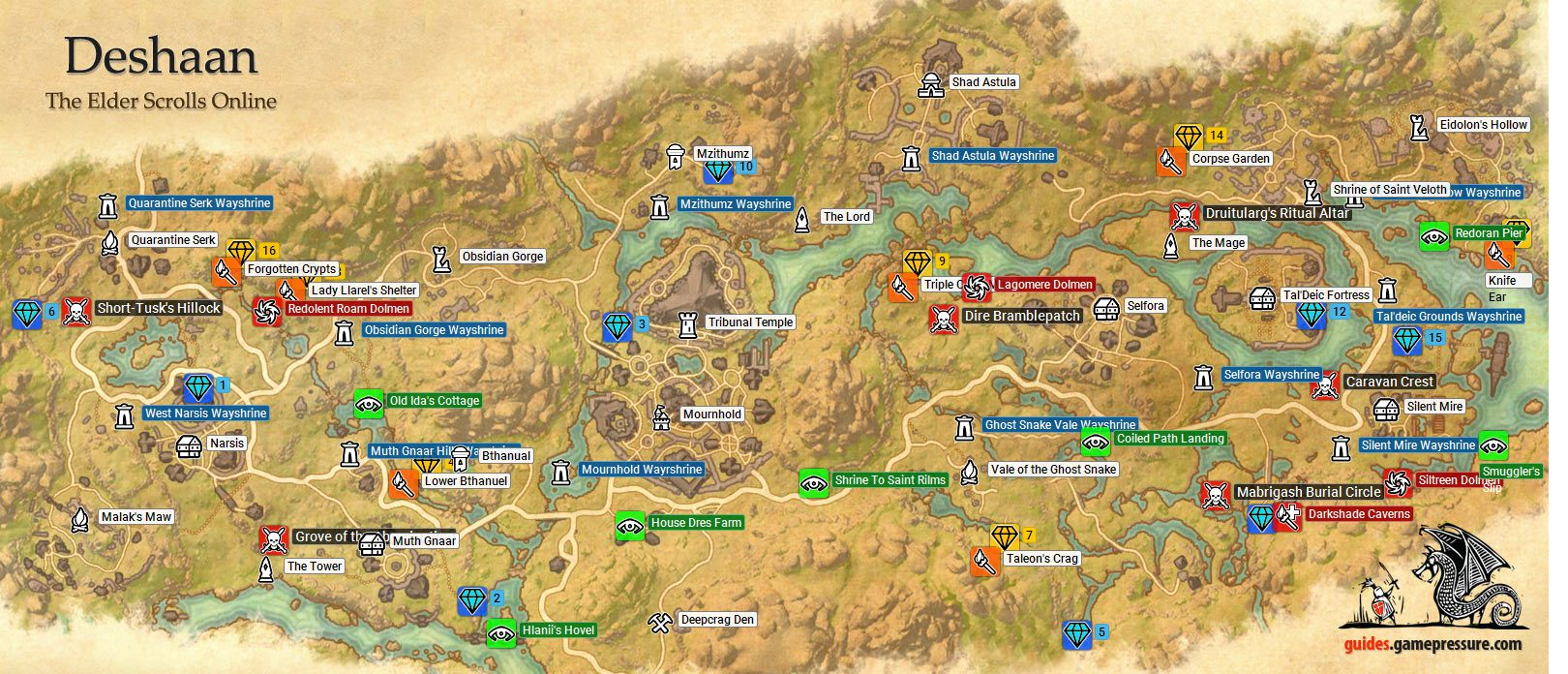 Deshaan Ebonheart Pact The Elder Scrolls Online Game