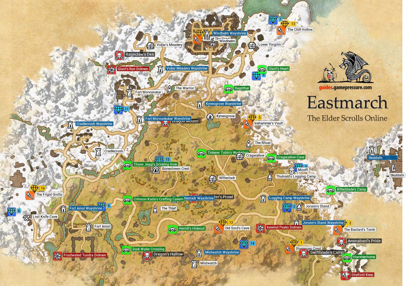 Eastmarch | Ebonheart Pact - The Elder Scrolls Online Game Guide ...