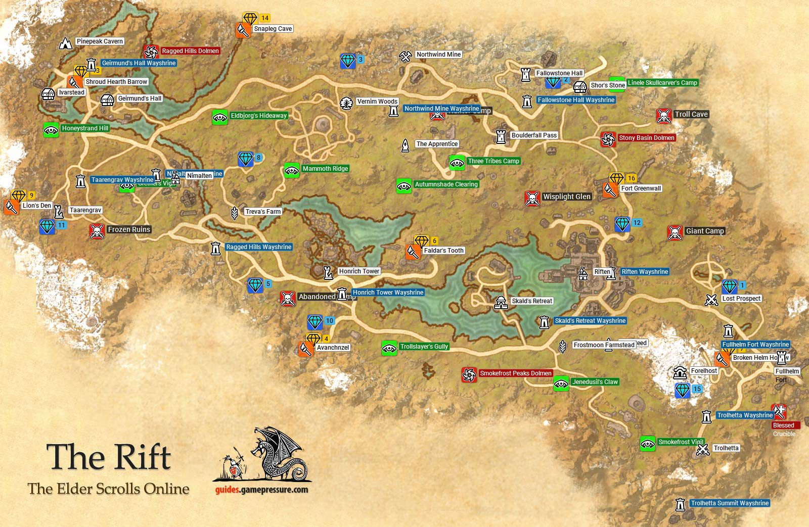 The Rift | Ebonheart Pact - The Elder Scrolls Online Game Guide