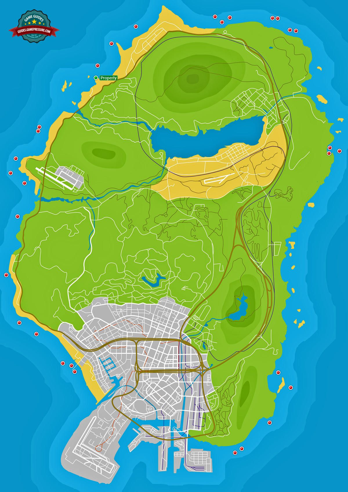 GTA V Map - Radioactive Waste
