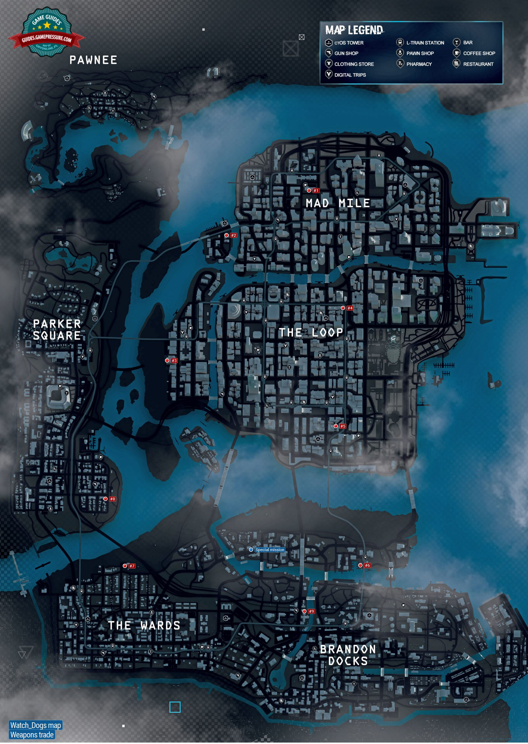 Weapons Trade Maps Of Smaller Activities Watch Dogs