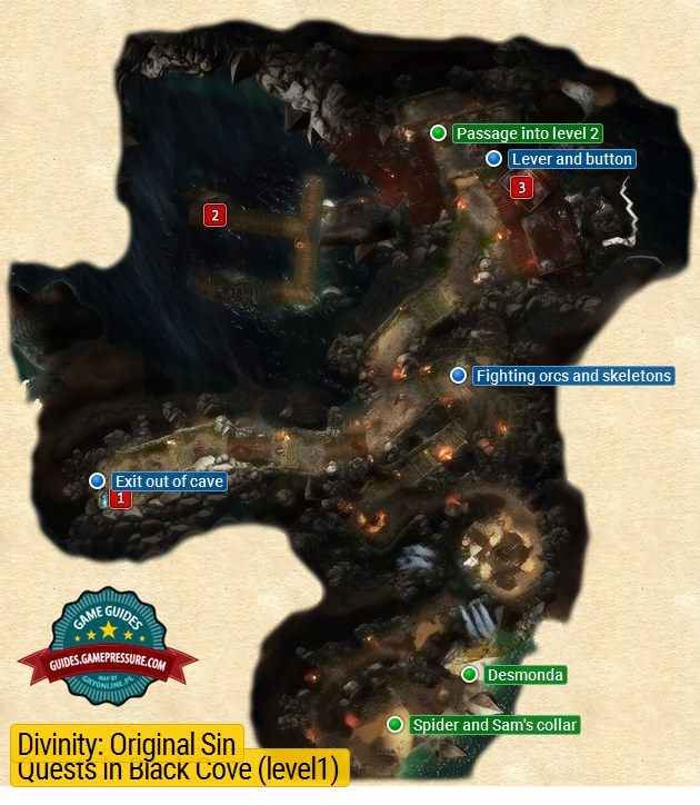 Black Cove (level 1) | Cyseal - Maps - Divinity: Original Sin Game on