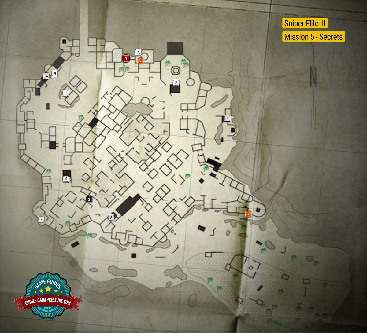 Map Of Collectibles In The Fifth Mission Collectibles
