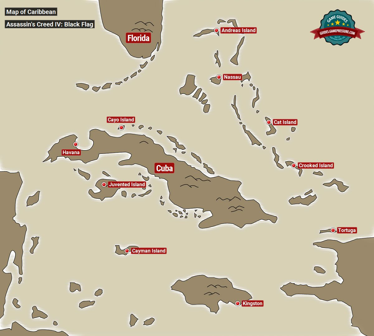 Black Flag Map Map of the Caribbean | Basic info   Assassin's Creed IV: Black  Black Flag Map