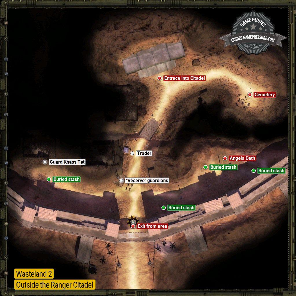 Citadel Exterior Ranger Citadel Locations Wasteland 2 Game