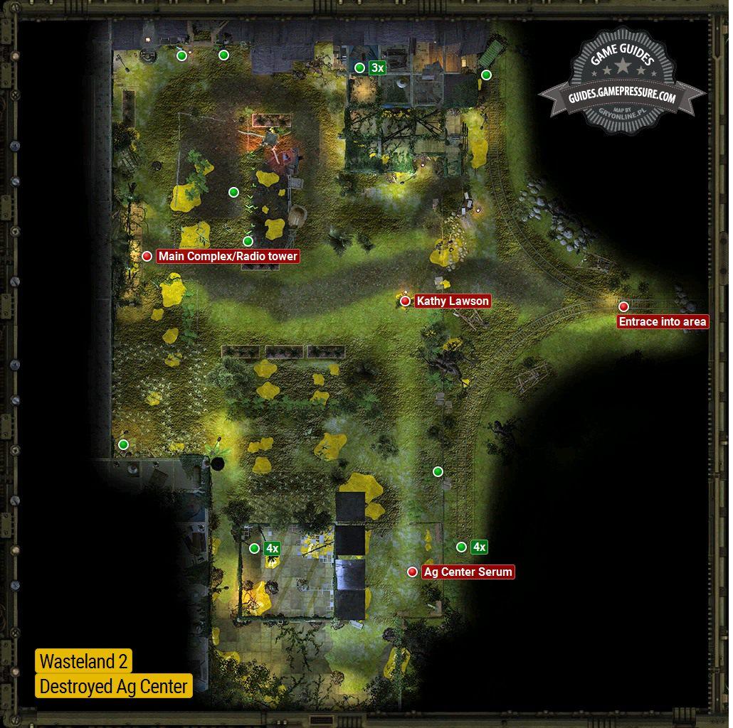 Ag Center Destroyed Ag Center Locations Wasteland 2 Game