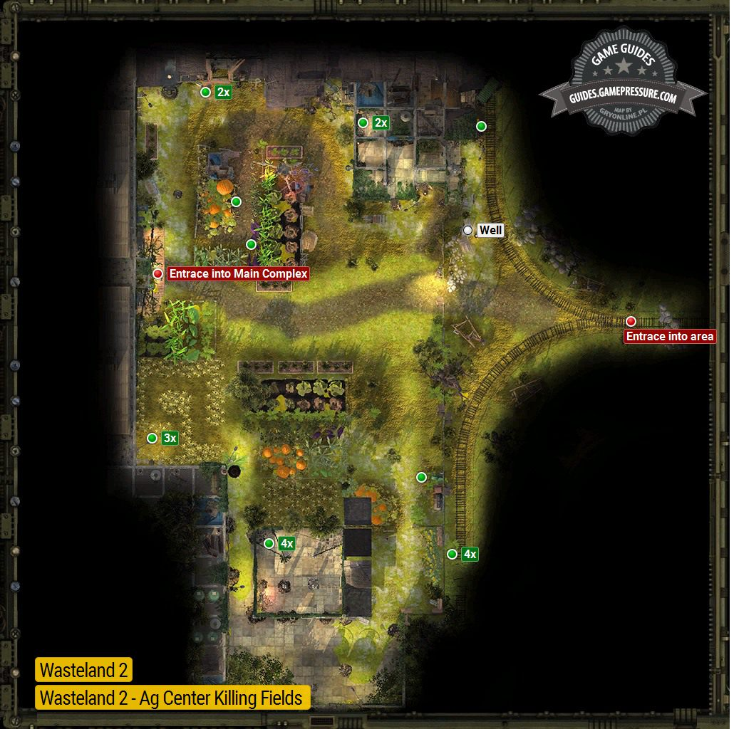 Ag Center Fields Ag Center Locations Wasteland 2 Game Guide