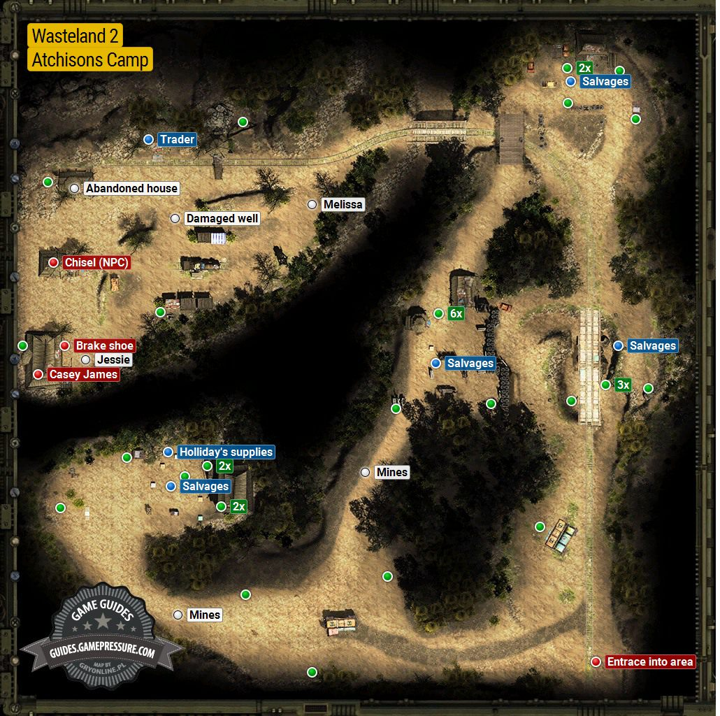 The Atchisonians S Camp Rail Nomad Camp Locations Wasteland 2