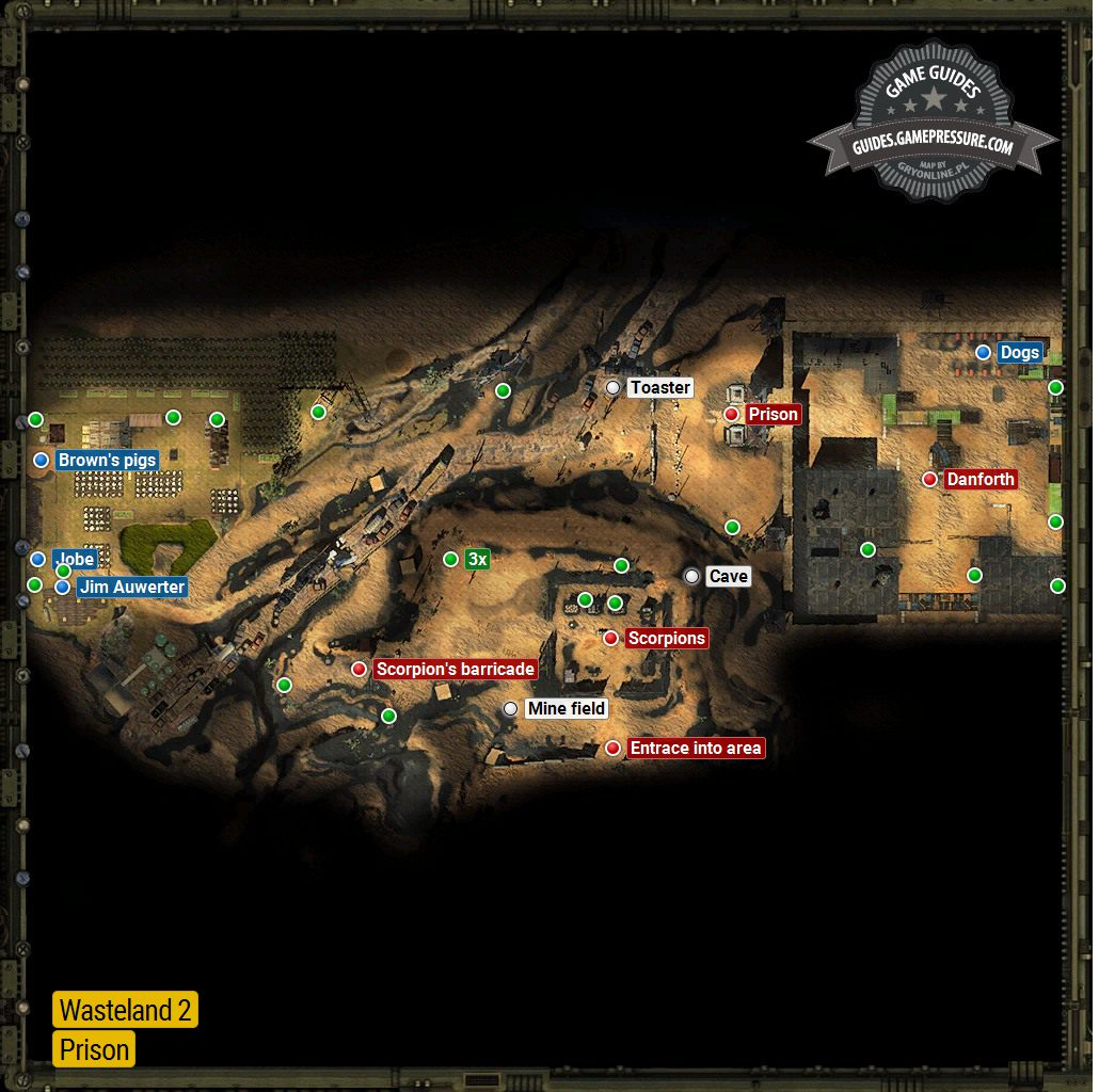 The Prison Prison Locations Wasteland 2 Game Guide