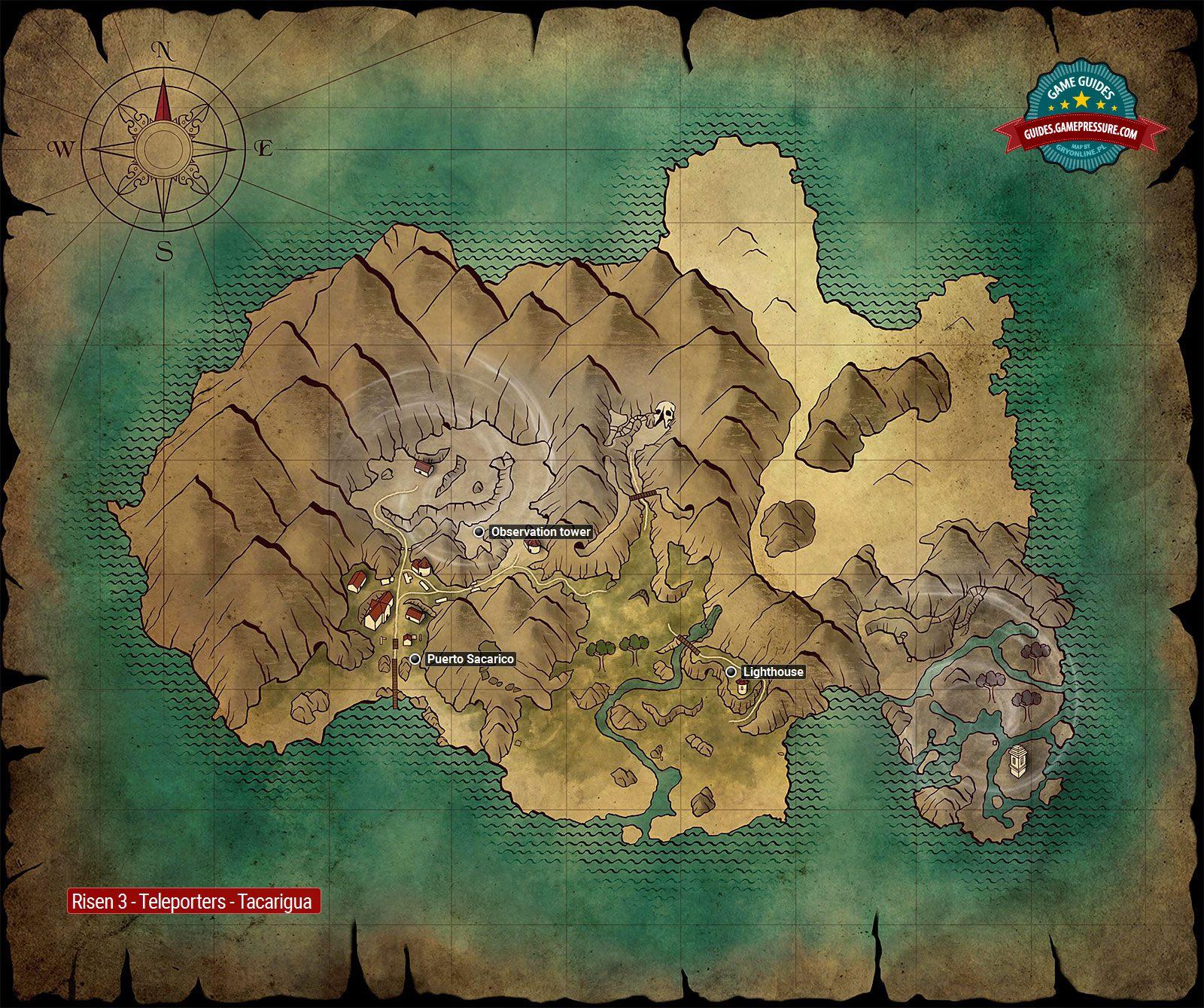 Tacarigua | Teleporters - Risen 3: Titan Lords Game Guide