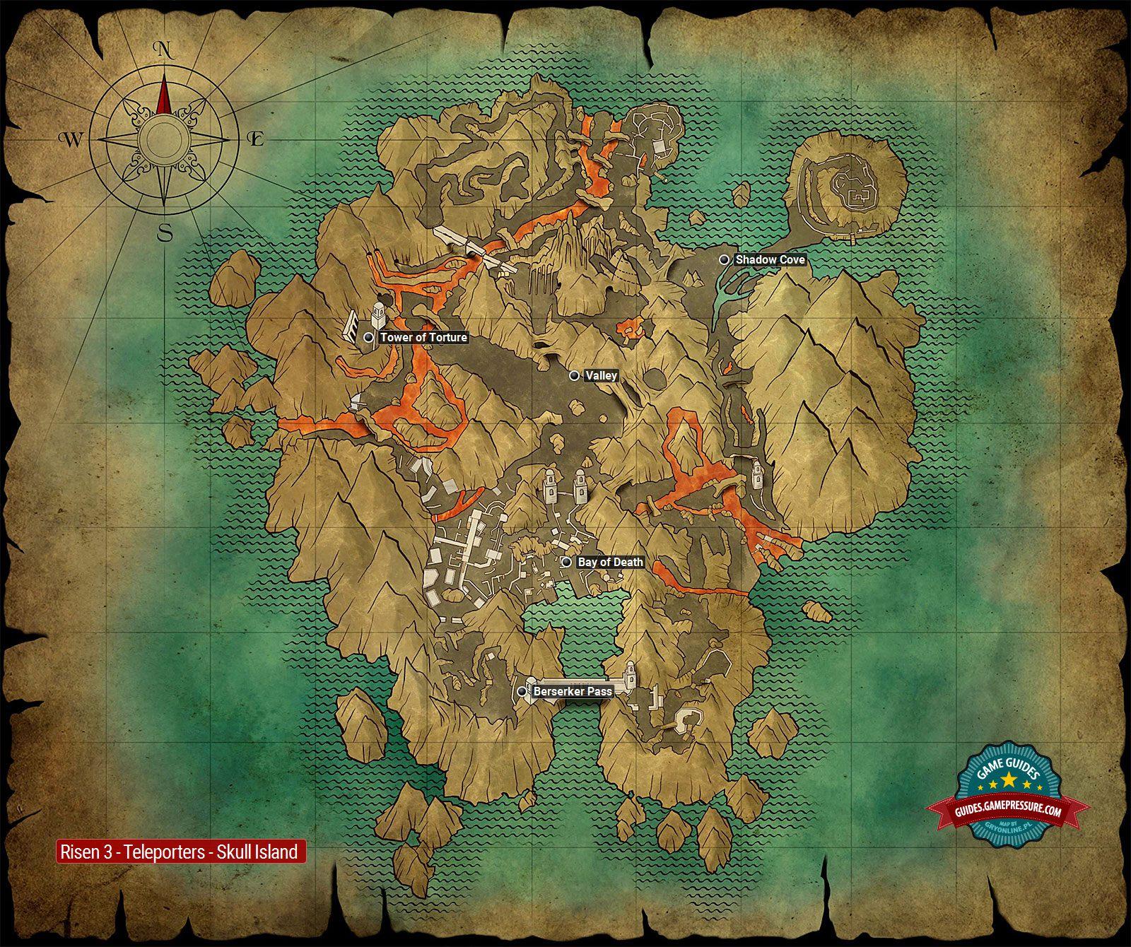 Skull Island | Teleporters - Risen 3: Titan Lords Game Guide