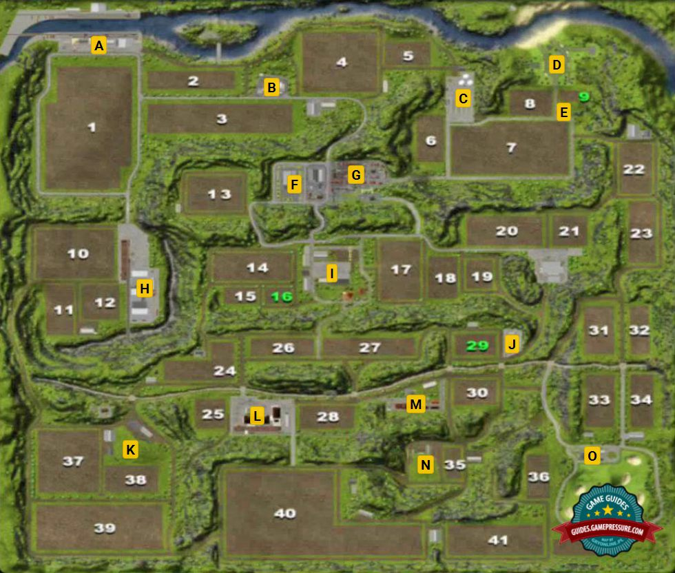 Farming Simulator 2013 Maps Map of Hagenstedt   Farming Simulator 2013 Game Guide  Farming Simulator 2013 Maps