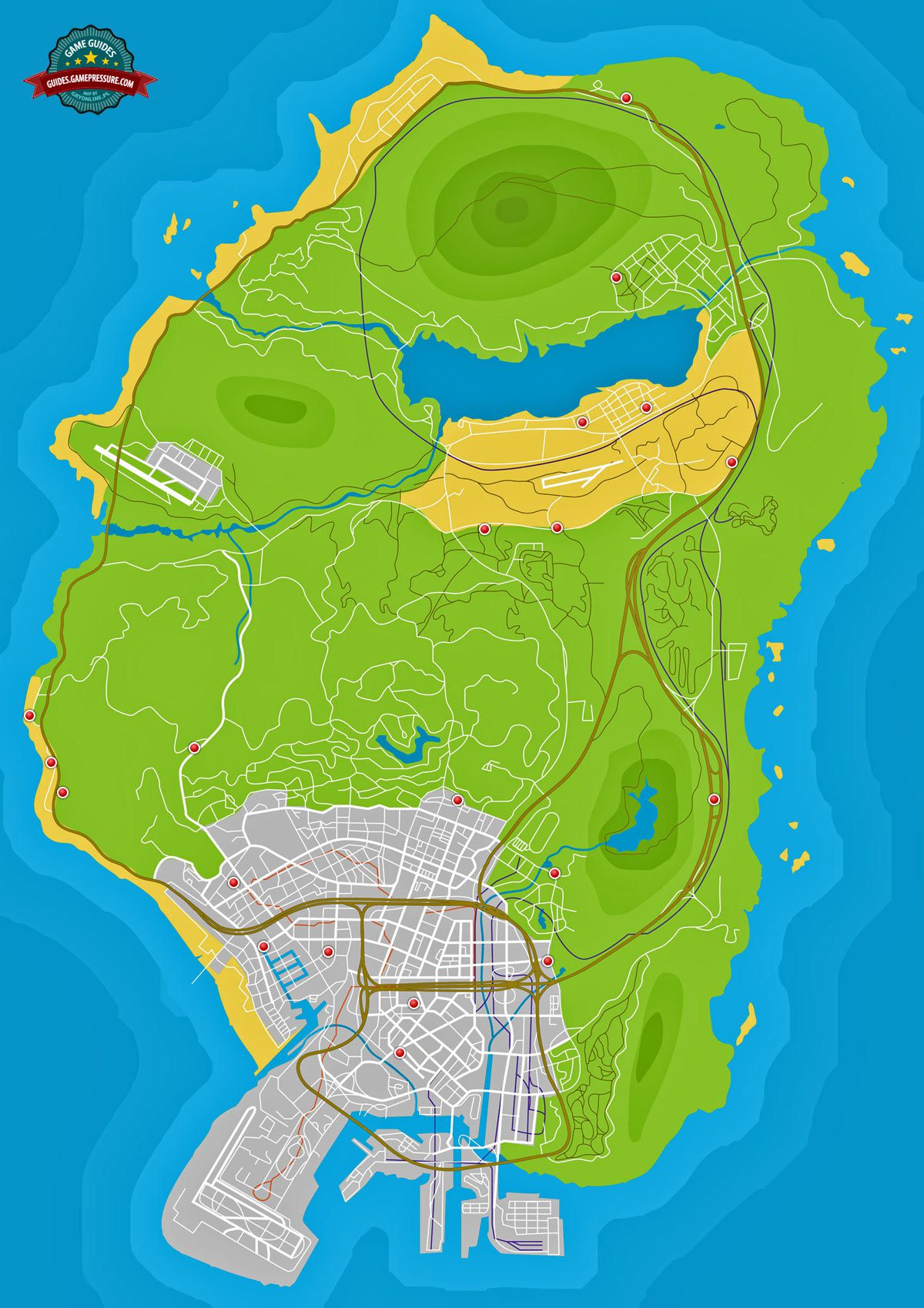 GTA V Map - Shops to rob