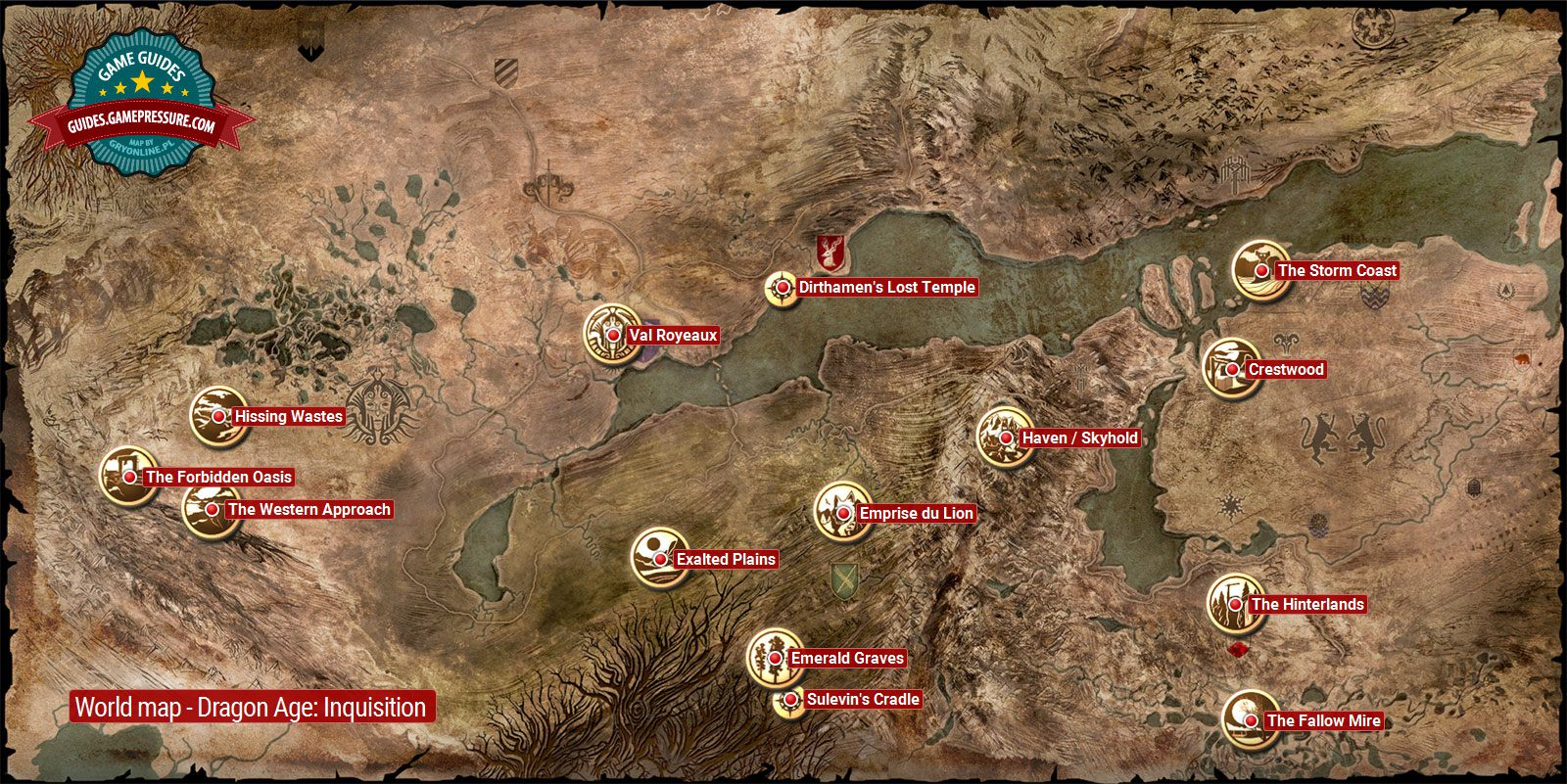 World map | Dragon Age: Inquisition World Atlas - Dragon Age ... on