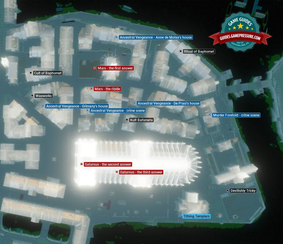 Side Missions   Cite map in AC Unity - Assassin's Creed