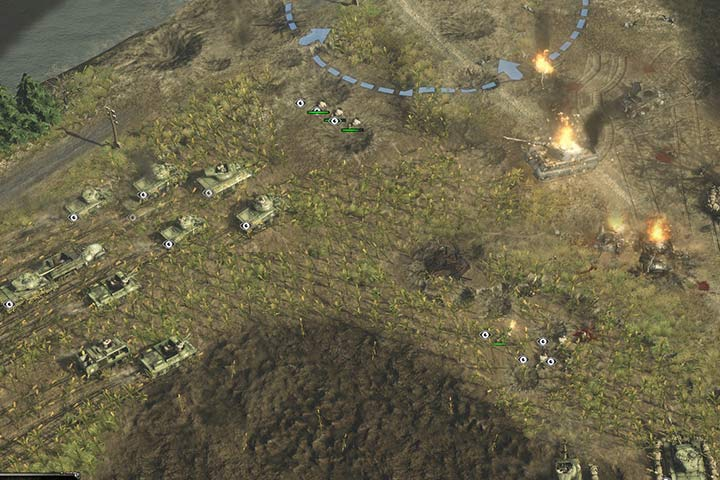 Infantry first, then tanks and last but not least artyllery. This is the basics of all your attacks. - Attacking and the offensive | Battle tactics - Battle tactics - Sudden Strike 4 Game Guide