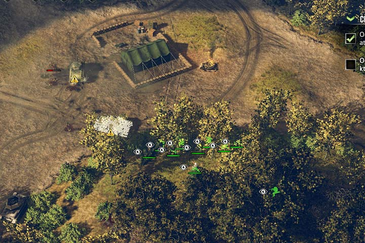 Infantry hides in the thick forest in order to prepare big surprise for enemy. - Attacking and the offensive | Battle tactics - Battle tactics - Sudden Strike 4 Game Guide