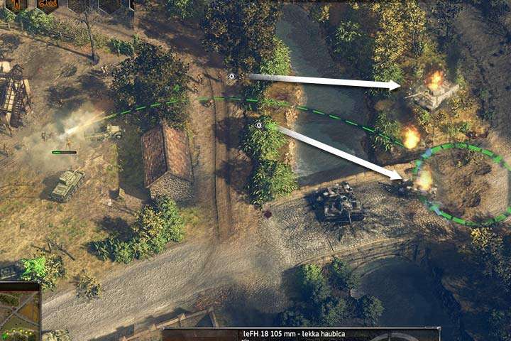Scouts are spotters for artillery. Thanks to them bombardment is precise. - Attacking and the offensive | Battle tactics - Battle tactics - Sudden Strike 4 Game Guide