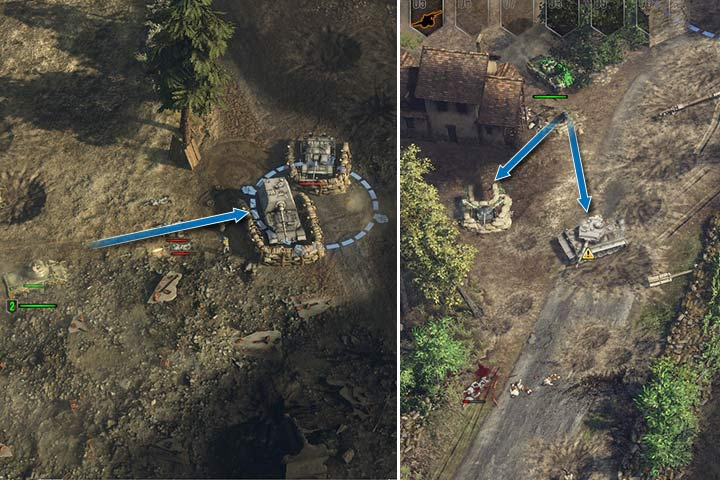 Tanks have weak spots on the side and on the back. Always try to approach your opponent from behind or flank them. - Attacking and the offensive | Battle tactics - Battle tactics - Sudden Strike 4 Game Guide