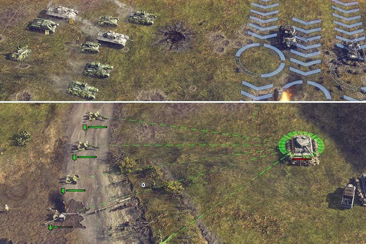 Deal with groups of enemy tanks by firing from sides - use cannons, tanks, AT units or airplanes. - Mission 4 - The Battle of Kursk | Soviet | Campaign - Soviet - Sudden Strike 4 Game Guide