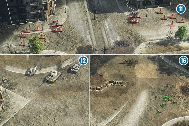 Before your troops cross the river, send your shooters to disarm the mines in front of the bridge - Mission 7 - Battle of Berlin | Soviet | Campaign - Soviet - Sudden Strike 4 Game Guide