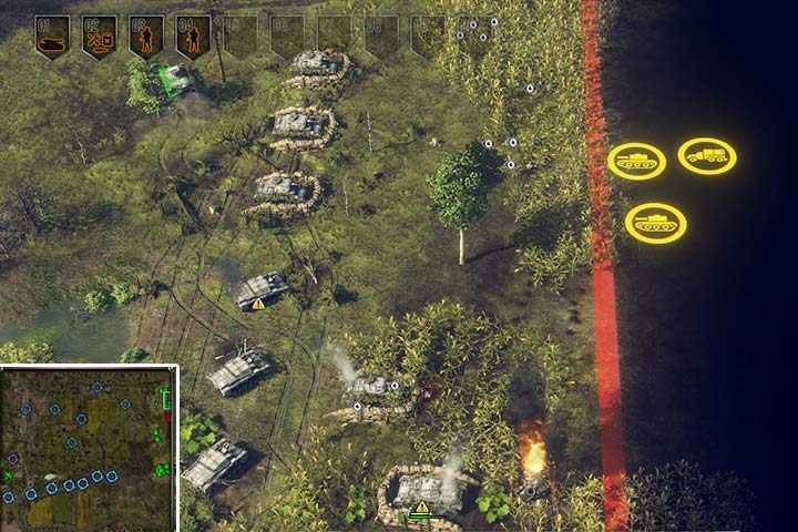 You may cheat the game in a way, and locate your troops by the right edge of the map. You will eliminate half of your enemies that will always enter from this specific location. - Mission 3 - Operation Barbarossa | German| Campaign - German - Sudden Strike 4 Game Guide
