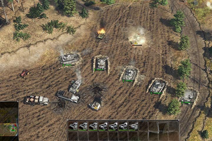 Some Panzer IV tanks is all you need to keep your artillery safe. Use your infantry to mark targets for your artillery. - Battle of Kursk | German| Campaign - German - Sudden Strike 4 Game Guide