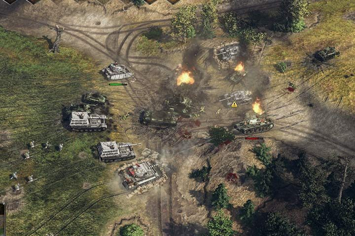 Use the reinforcements to destroy a hostile division that will attack the left flank. You will get to most powerful German tanks that will crush your enemy. Use them to strengthen your position in the village. - Battle of Kursk | German| Campaign - German - Sudden Strike 4 Game Guide