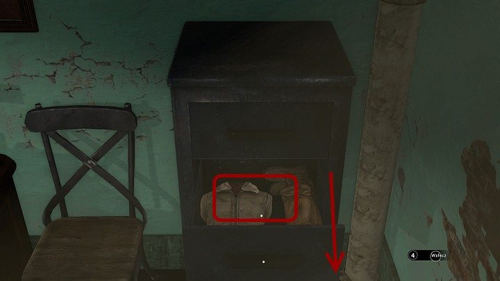 In zoom, slide out the second drawer by sliding the mouse down and collect the things - Find the doctor | Chapter one | Walkthrough - Chapter one - Syberia 3 Game Guide