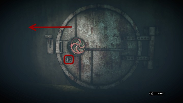 In order to unlock the hatch, place the square key you found by the first recess into the hole under the valve, and then turn it to the right (with the correct mouse movement) - Open the two locks | Chapter three | Walkthrough - Chapter three - Syberia 3 Game Guide