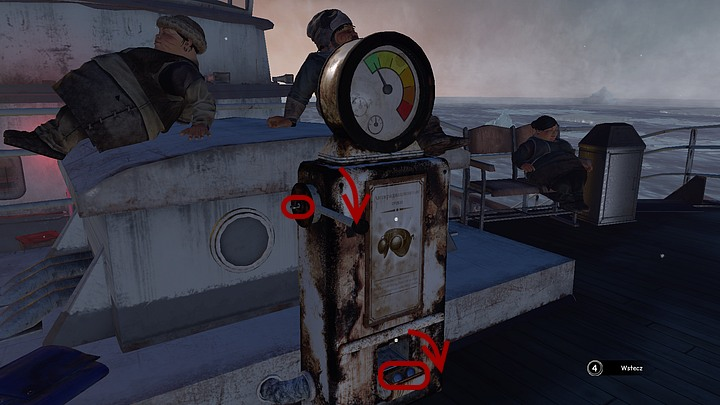 Stand in front of the dispenser and zoom in on its lower portion, move down (with the mouse) the cover - turns out its empty - Acquire a radiation meter | Chapter five | Walkthrough - Chapter five - Syberia 3 Game Guide
