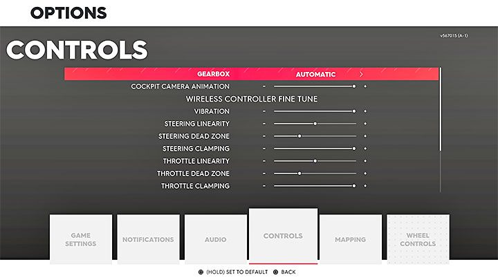 Controls settings in The Crew 2 - The Crew 2 Game Guide