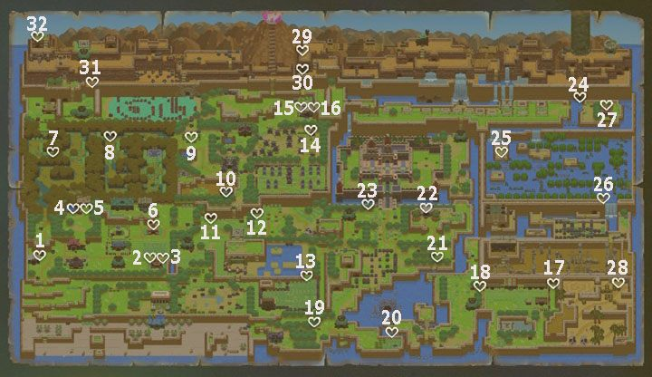 Pieces Of Heart In Link S Awakening Link S Awakening Guide