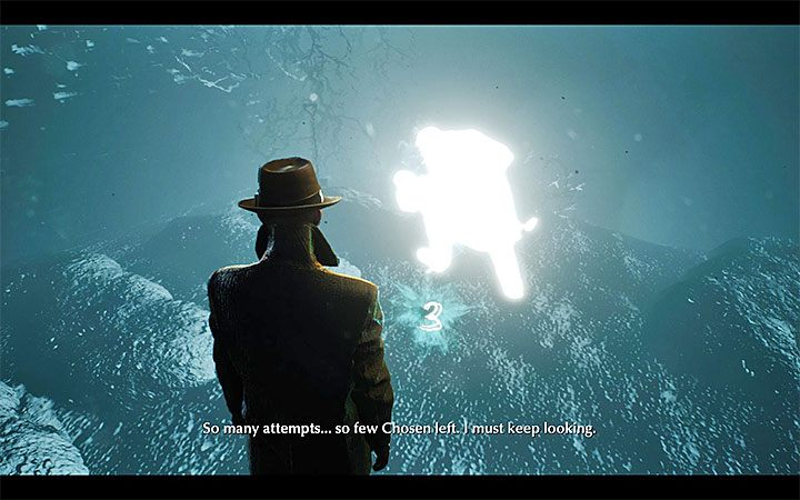 Look for the blue cloud and proceed to retrocognition - Deal with the Devil | The Sinking City walkthrough - Main cases - The Sinking City Guide