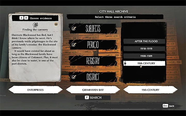 Now you need to determine where the factory is located: visit the Oakmont City Hall - Deal with the Devil | The Sinking City walkthrough - Main cases - The Sinking City Guide