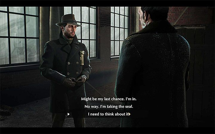 When you return to the first floor of the factory, you will meet Ebernote Blackwood - Deal with the Devil | The Sinking City walkthrough - Main cases - The Sinking City Guide