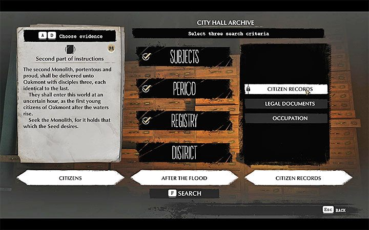 The Second Part of Instructions, which you received in the Church of St - Into the Depths | The Sinking City walkthrough - Main cases - The Sinking City Guide