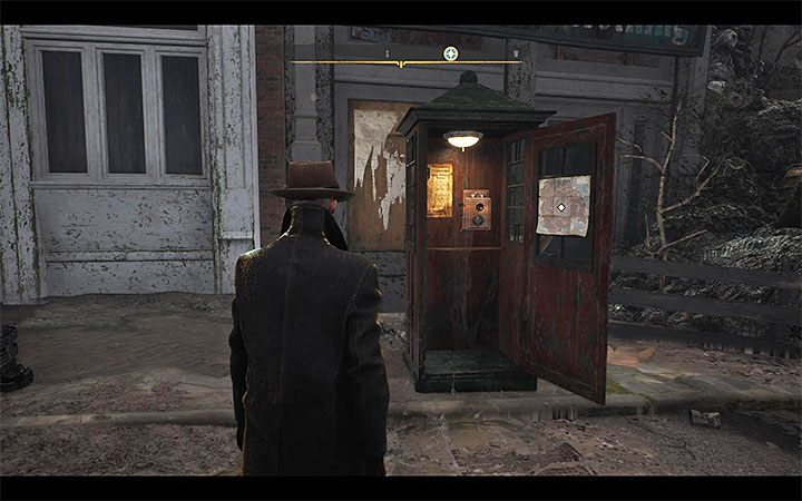 Quick travel points are phone booths - How to unlock quick travel in The Sinking City? - FAQ - The Sinking City Guide
